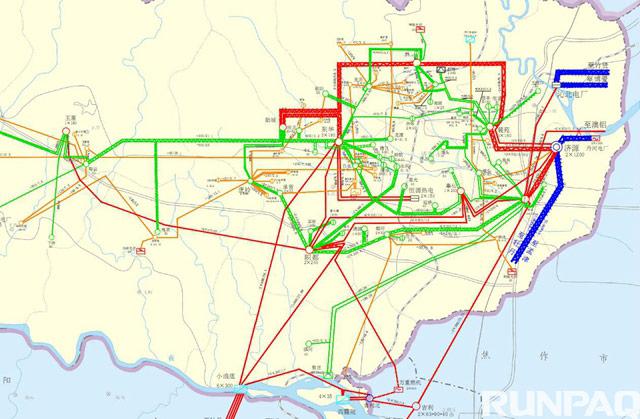 光伏电站并网地理接线图-杭州源牌科技股份有限公司 侍郎腰光伏发